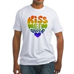 Kiss Me I'm Queer Fitted T-Shirt