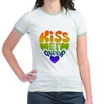 Kiss Me I'm Queer Jr. Ringer T-Shirt