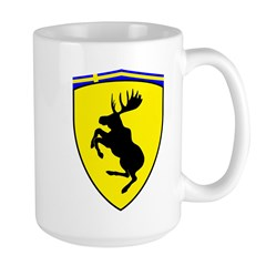 Prancing Moose Large Mug, 3 inch moose