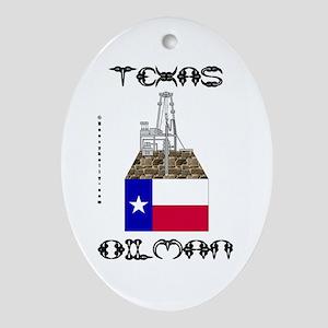 Texas Oilman Oval Ornament