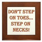 Step On Necks Framed Tile