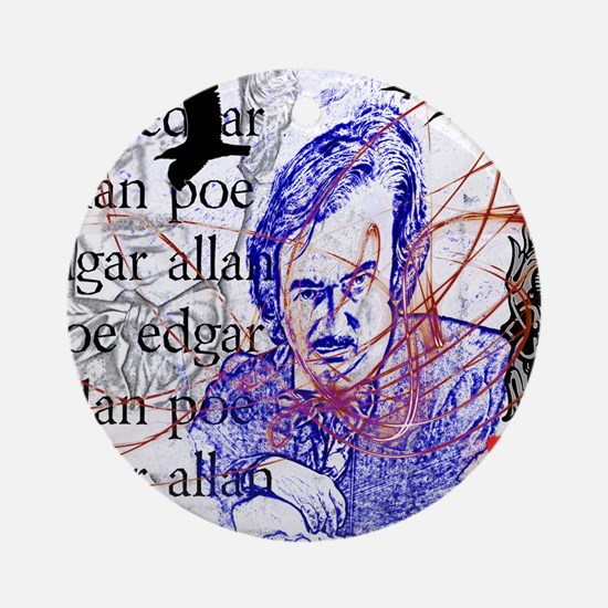 Haunted Poe Ornament (Round)