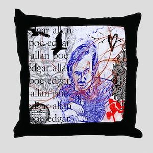 Haunted Poe Throw Pillow