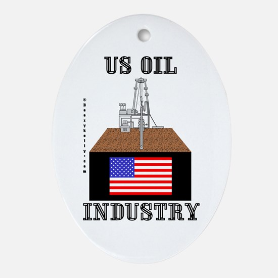 US Oil Industry Oval Ornament
