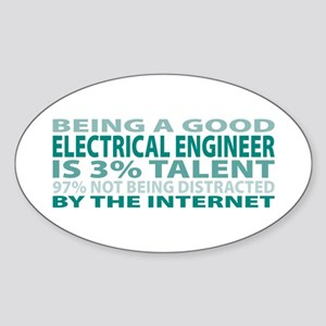 Good Electrical Engineer Oval Sticker