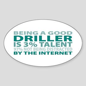 Good Driller Oval Sticker