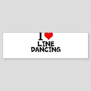 I Love Line Dancing Bumper Sticker