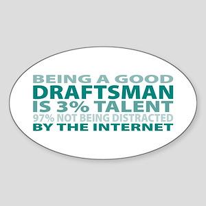 Good Draftsman Oval Sticker