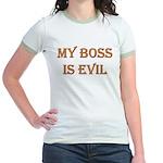 My Boss is Evil Jr. Ringer T-Shirt