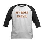 My Boss is Evil Kids Baseball Jersey