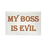 My Boss is Evil Rectangle Magnet (100 pack)
