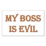 My Boss is Evil Rectangle Sticker 10 pk)