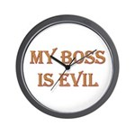 My Boss is Evil Wall Clock