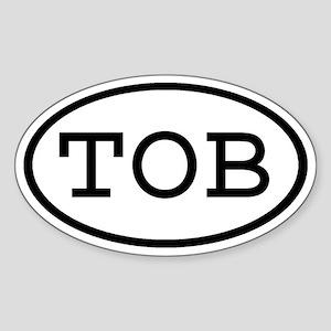 TOB Oval Oval Sticker
