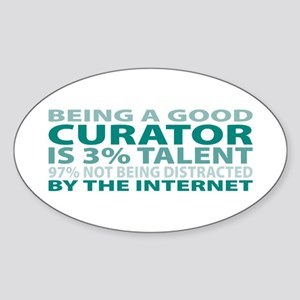 Good Curator Oval Sticker