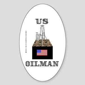 US Oilman Oval Sticker