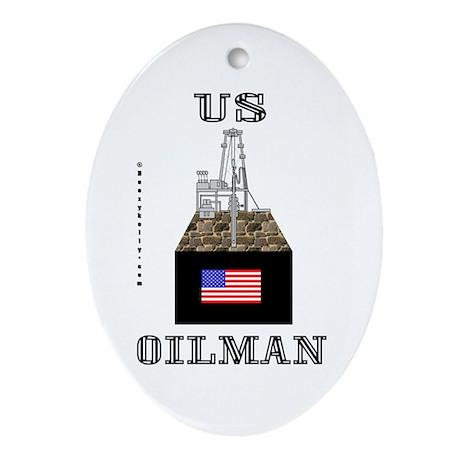 US Oilman Oval Ornament