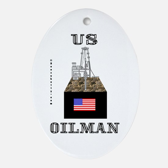 US Oilman Oval Ornament