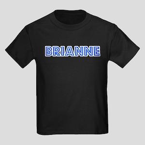 Retro Brianne (Blue) Kids Dark T-Shirt