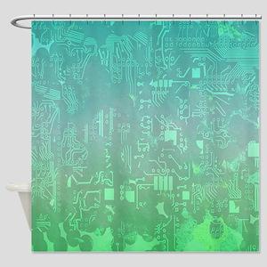 computer board Shower Curtain