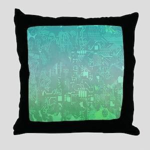 computer board Throw Pillow