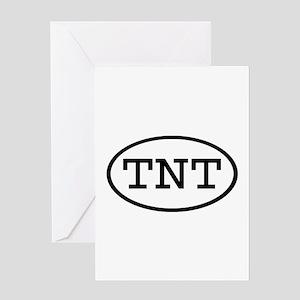 TNT Oval Greeting Card