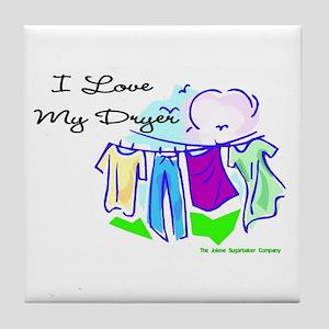 Clothesline Dryer Love Tile Coaster