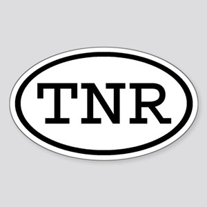TNR Oval Oval Sticker