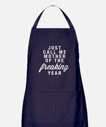 Mother Of The Freaking Year Dark Apron (dark)