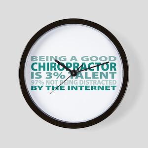 Good Chiropractor Wall Clock