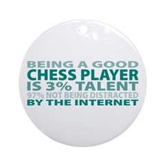 Good Chess Player Ornament (Round)