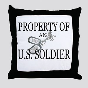 PROPERTY OF SOLDIER Throw Pillow
