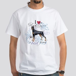 Doberman Pinscher White T-Shirt