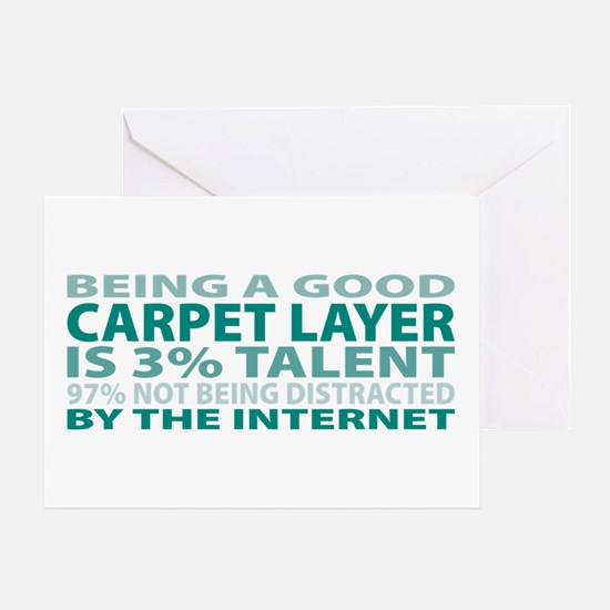 Good Carpet Layer Greeting Card