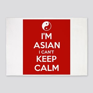 I'm Asian, I Can't Keep Cal 5'x7'Area Rug