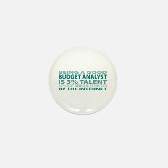 Good Budget Analyst Mini Button