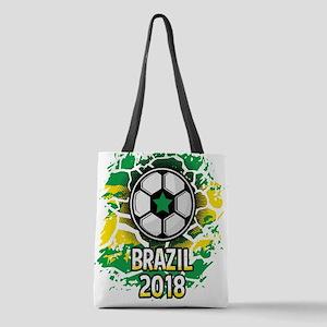 Brazil Soccer 2018 Polyester Tote Bag
