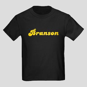 Retro Branson (Gold) Kids Dark T-Shirt