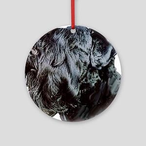 Black Russsian terrier Ornament (Round)