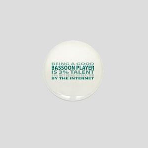 Good Bassoon Player Mini Button