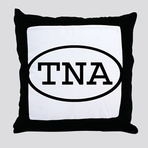 TNA Oval Throw Pillow