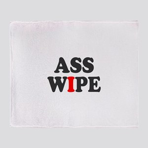 ASS WIPE Throw Blanket
