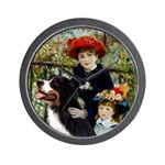 Two Sisters / Bernese Mountain Dog Wall Clock