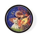 Wheaten Scotty / Mandolin Angel Wall Clock