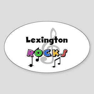 Lexington Rocks Oval Sticker