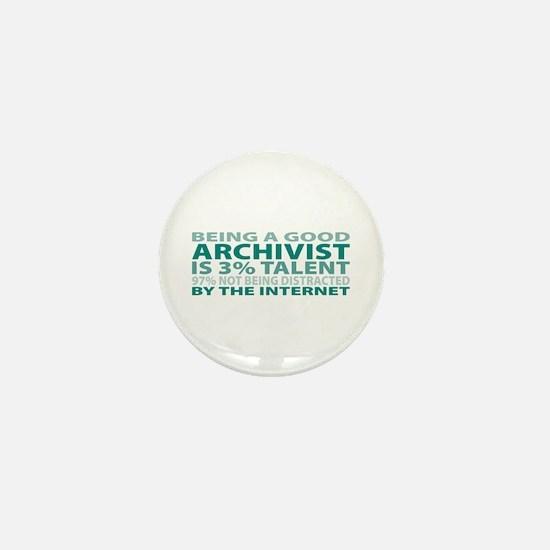 Good Archivist Mini Button