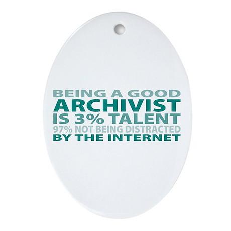 Good Archivist Oval Ornament