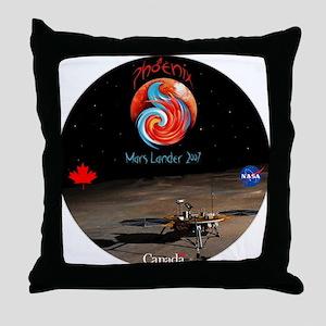 NASA Canada Phonenix Throw Pillow