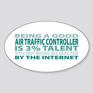 Good Air Traffic Controller Oval Sticker