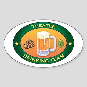 Theater Team Oval Sticker